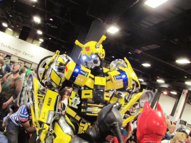 This guy had an incredible Bumblebee costume. It was massive!