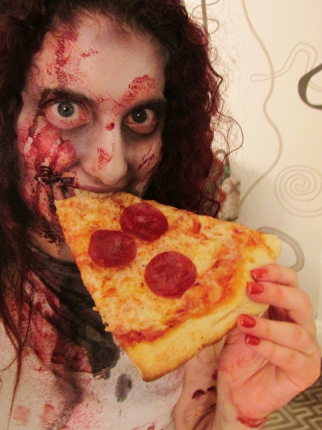 Zombies love NYC pizza, too.