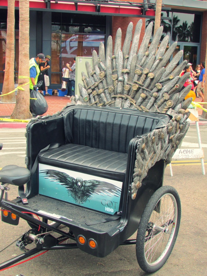 I am LOVING these 'Game of Thrones' pedicabs!