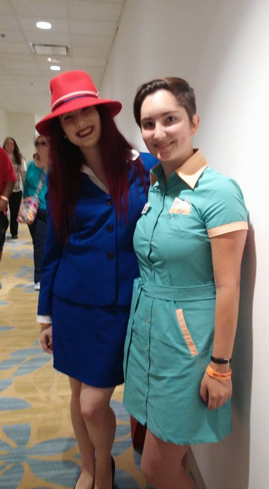 "This lovely lady was dressed as Angie from ""Agent Carter"" and she looked incredible!"