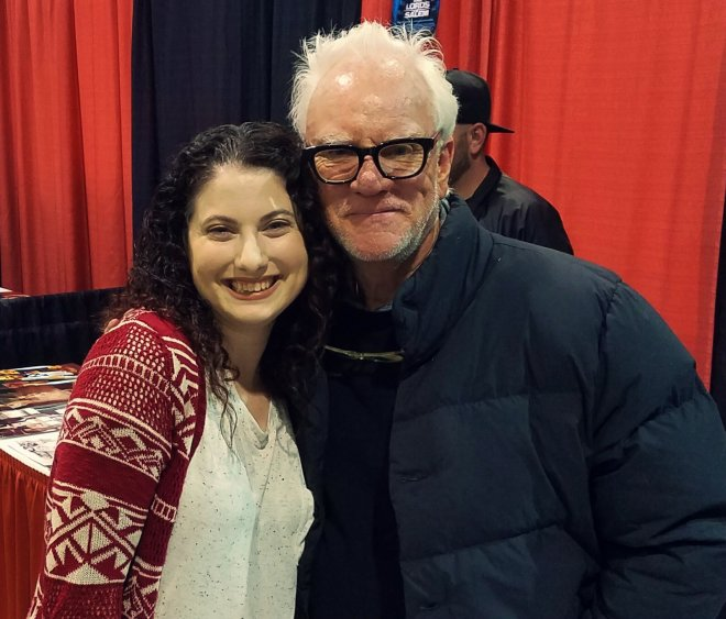 DeLarge Family Reunion! Malcolm McDowell and I at Rock & Shock 2016.